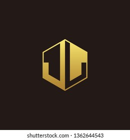JL Logo Monogram with Negative space gold colors