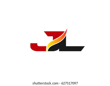JL Logo. Vector Graphic Branding Letter Element