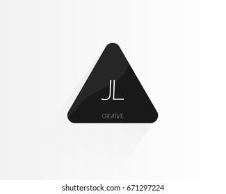 JL Triangle Letter Logo