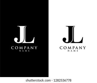 jl/lj initial company name logo template vector