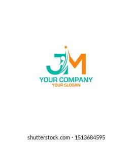 JM Career Logo Design Vector