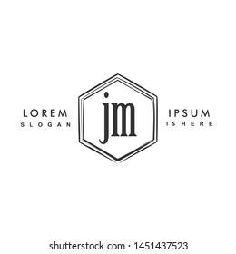JM Initial beauty monogram logo vector