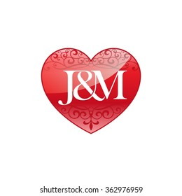 Heart J And M Wallpaper