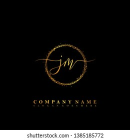 JM Initial luxury handwriting logo vector