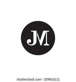 JM initial monogram circle logo
