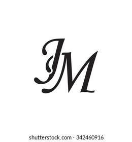 JM initial monogram logo