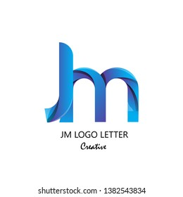 jm j m circle lowercase design of alphabet letter combination with infinity suitable as logo for a company or corporate business template design - Vector