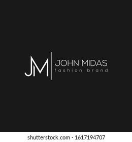 JM letter logo. Unique attractive creative modern jm minimal logo.