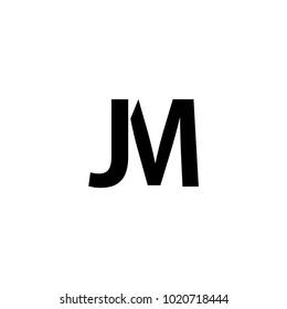 jm letter logo vector