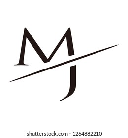 jm letter vector logo
