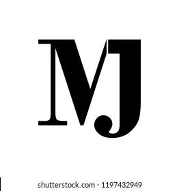 jm letter vector logo. mj letter vector logo