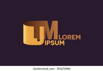 JM letters logo, J and M letters logo alphabet design.