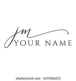 JM logo jm signature font style j m