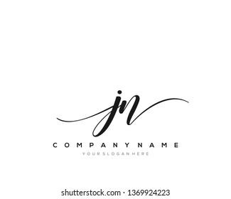 JN handwriting initial  logo vector