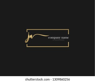 JN Initial handwriting logo vector. Hand lettering for designs.
