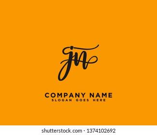 JN Initial Handwriting Logo Vector