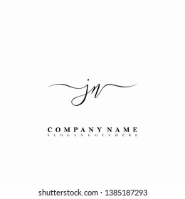 JN Initial luxury handwriting logo vector