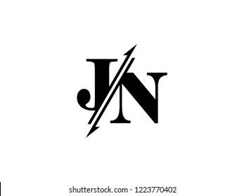 JN initials logo sliced