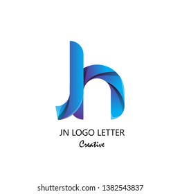 jn j n circle lowercase design of alphabet letter combination with infinity suitable as logo for a company or corporate business template design - Vector