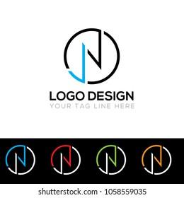 JN Letter Logo Design Template  Vector EPS File