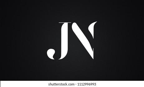 JN Letter Logo Design Template Vector