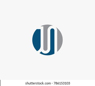 JN letter logo vector. JS logo template. symbol or icon letter