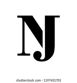 jn letter vector logo. nj letter vector logo