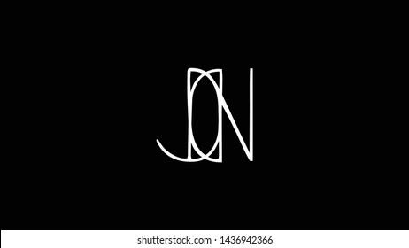 JN logo design template vector illustration