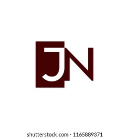 JN logo flat initial letter design template vector