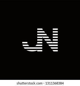 JN Logo Letter initial Designs Templete