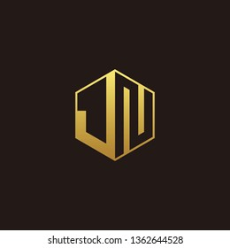 JN Logo Monogram with Negative space gold colors