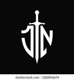 JN logo with shield shape and sword