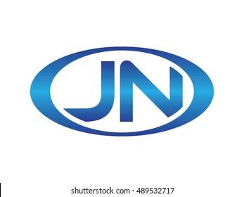 JN-letter abbreviations blue oval logo