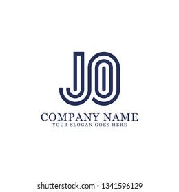 JO initial Letter logo, logo monogram, clean and modern design