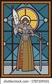 joan of arc medieval female girl woman saint warrior knight
