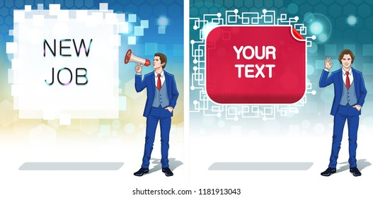 Business Advertisement Concept Clipart Announcement Banner Stock