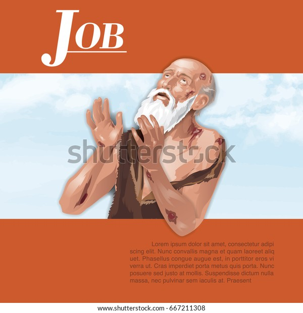 Job Bible Suffer Illustration Stock Vector (Royalty Free