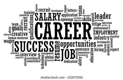 Job Career Opportunity word cloud illustration