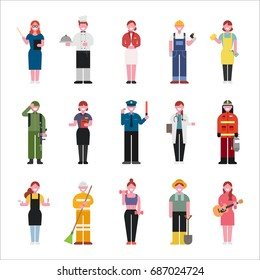 job character vector illustration flat design