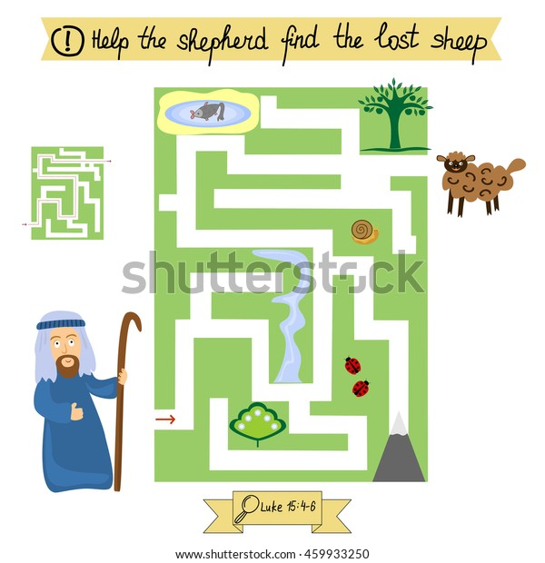 Job Children Complete Maze Find Lost Stock Vector Royalty Free 459933250