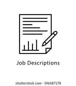 Job Description Vector Line Icon