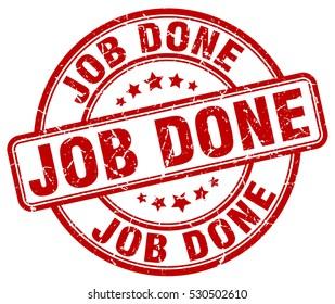 job done. stamp. red round grunge vintage job done sign