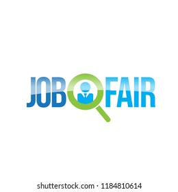 Job Fair Colorful Creative Vector Logo