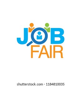 Job Fair Colorful Vector Creative Logo