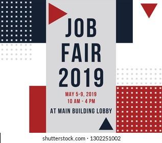 job fair poster, job recruitment event, flyer template for job fair