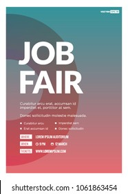 Job Fair Poster Template with Time Date Venue and Ticket Purchase Details