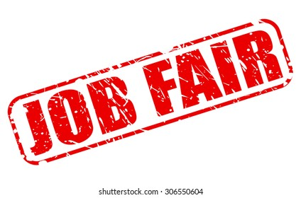 Job Fair red stamp text on white