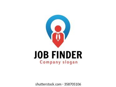 Job Finder Symbol Logo Design Illustration