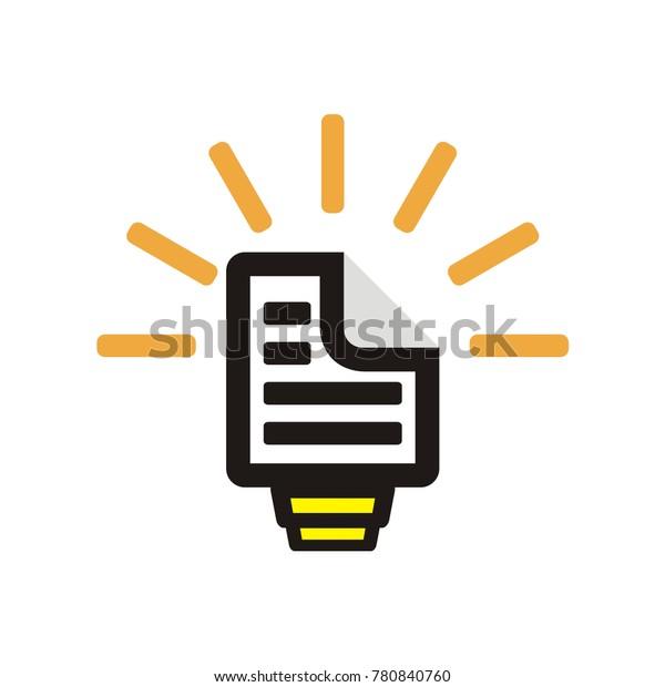 Job Idea Application Cv Logo Resume Stock Vector Royalty