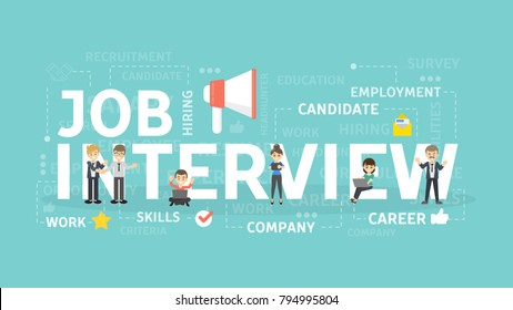 Job interview concept illustration.